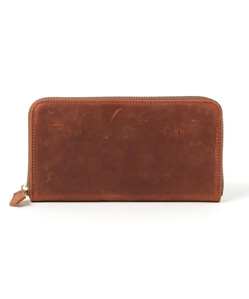 画像1: クレイジーカーフ/ラウンドファスナー長財布